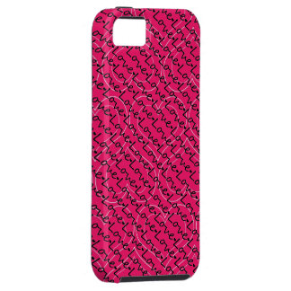 Hot Pink Hearts and Love iphone 5 case