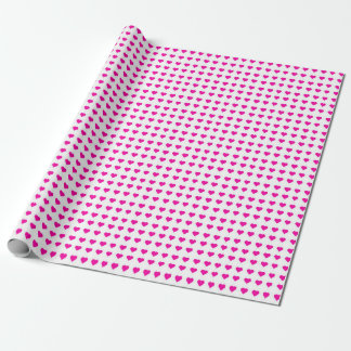 Hot Pink Hearts Wrapping Paper