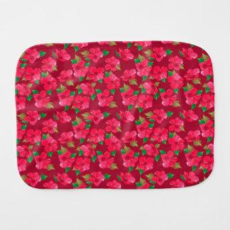 Hot Pink hibiscus Pattern Baby Burp Cloth