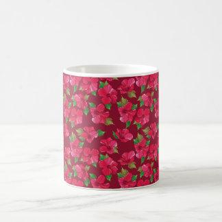 Hot Pink hibiscus Pattern Classic White Coffee Mug