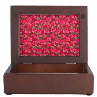 Hot Pink hibiscus Pattern Memory Boxes