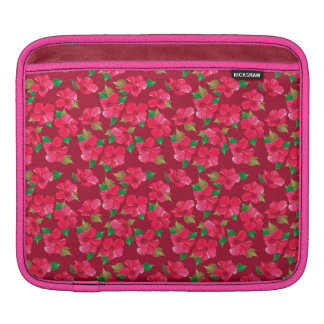 Hot Pink hibiscus Pattern Sleeves For iPads