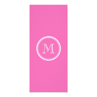 """Hot Pink High End Colored Personalized 4"""" X 9.25"""" Invitation Card"""