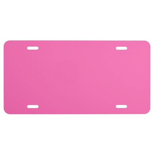 Hot Pink High End Solid Colored License Plate