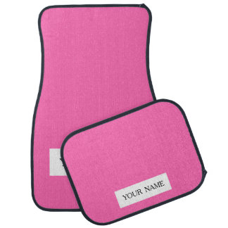 Hot Pink High End Solid Colored Car Mat