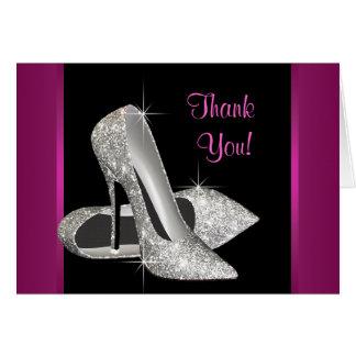 Hot Pink High Heels Thank You Card