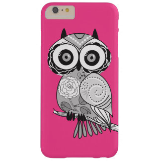 Hot Pink Hipster Groovy Cute Owl Girly Barely There iPhone 6 Plus Case