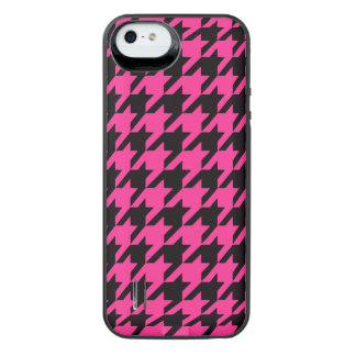 Hot Pink Houndstooth 2 iPhone SE/5/5s Battery Case
