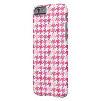 hot pink Houndstooth Pattern Barely There iPhone 6 Case