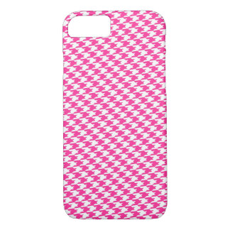 Hot Pink Houndstooth Pattern iPhone 7 Case