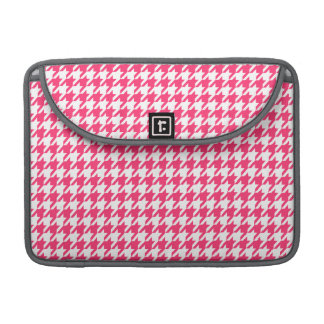 Hot Pink Houndstooth Sleeve For MacBook Pro