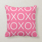 Hot Pink Hugs and Kisses Valentine Pillow