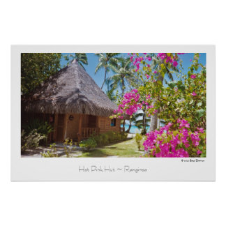 Hot Pink Hut ~ Rangiroa ~ Travel Poster