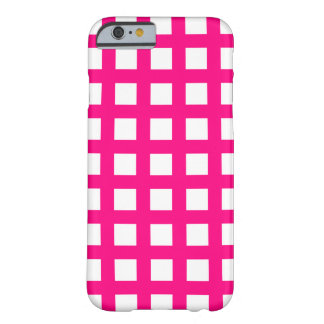Hot Pink iPhone 6 Cases - Grid Check Barely There iPhone 6 Case