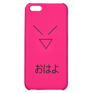 Hot Pink Japanese Hello iPhone 5C Cases