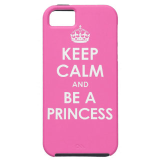 Hot Pink Keep Calm & Be a Princess iPhone 5 Case