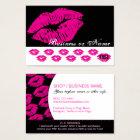 Hot Pink Kiss Prints - Lipstick Loyalty Rewards Business Card