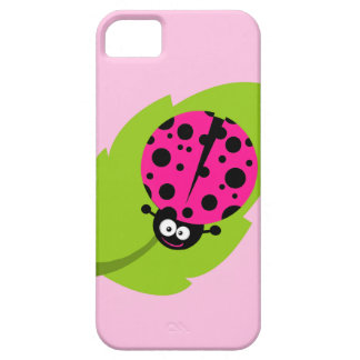 Hot Pink Ladybug iPhone 5 Covers