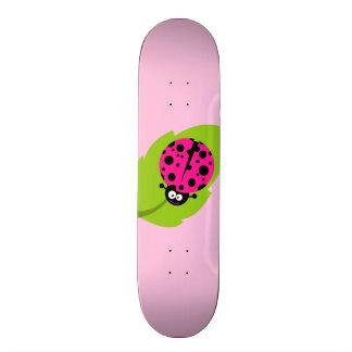 Hot Pink Ladybug Skate Board