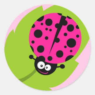 Hot Pink Ladybug Stickers
