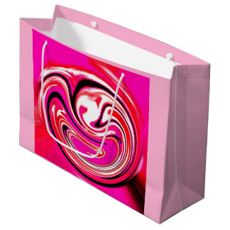 Hot pink large gift bag