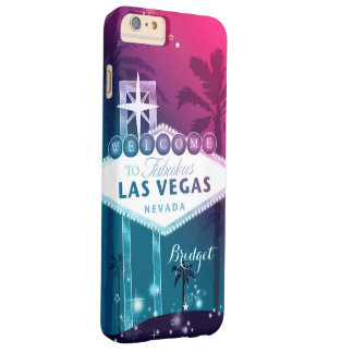 Hot Pink Las Vegas Barely There iPhone 6 Plus Case