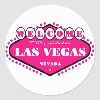 HOT Pink Las Vegas Logo Sticker