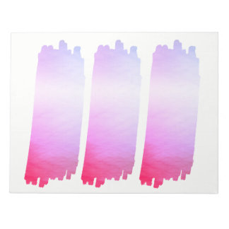 Hot Pink Lavender Paint List Brush Watercolor Notepad