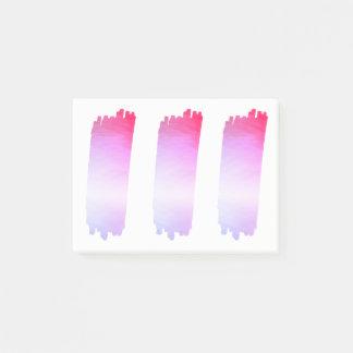 Hot Pink Lavender Paint List Brush Watercolor Post-it Notes