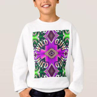 "Hot Pink Lavender ""Wild"" Card Funky Design Sweatshirt"