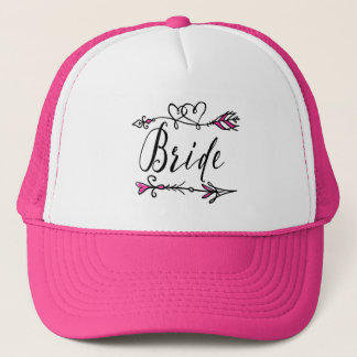 Hot Pink Leader of the Bride Tribe | Trucker Hat