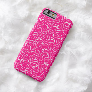 Hot Pink Leaf & Butterfly iPhone 6 Case Barely There iPhone 6 Case