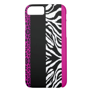 Hot Pink Leopard and Zebra Custom Animal iPhone 7 Case