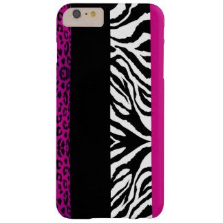 Hot Pink Leopard and Zebra Custom Animal Print Barely There iPhone 6 Plus Case