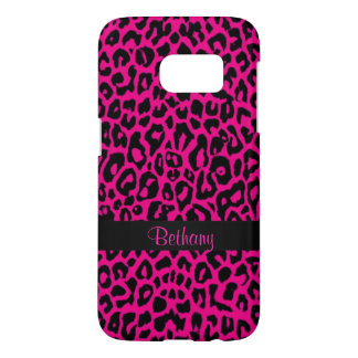 Hot Pink Leopard Animal Print Galaxy S7 Case