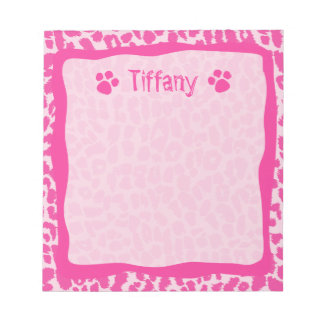Hot Pink Leopard Cheetah Customizable Notepad