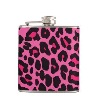 Hot Pink Leopard Flasks