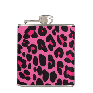 Hot Pink Leopard Hip Flask