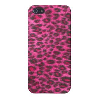 Hot Pink Leopard Pattern iPhone 5 Case