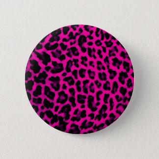 Hot Pink Leopard Print 2 Inch Round Button