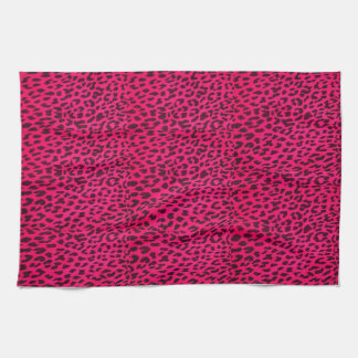 Hot Pink Leopard Print Towel* Kitchen Towel