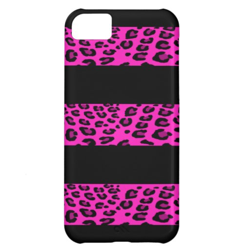 Hot Pink Leopard Stripes Case For iPhone 5C