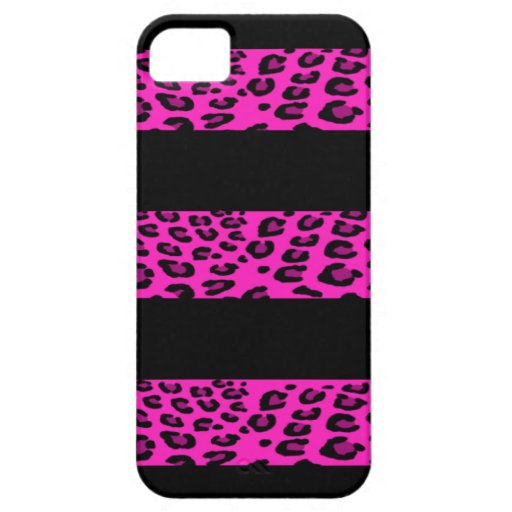 Hot Pink Leopard Stripes iPhone 5 Cases