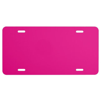 """Hot Pink"" License Plate"