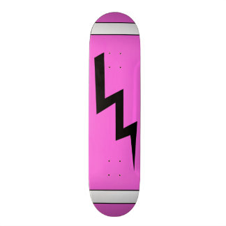 Hot Pink Lightning Bolt Skateboard