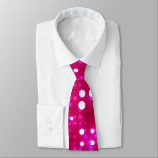 Hot Pink Lights Polka Dot Pattern Tie