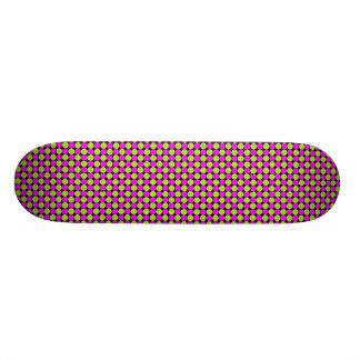 Hot Pink & Lime Green Polka Dots Skateboard Deck