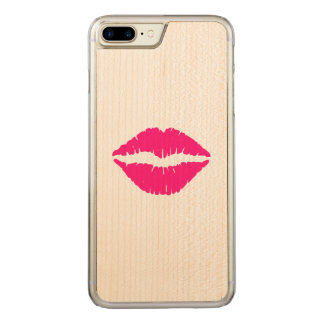 Hot Pink Lipstick Carved iPhone 8 Plus/7 Plus Case