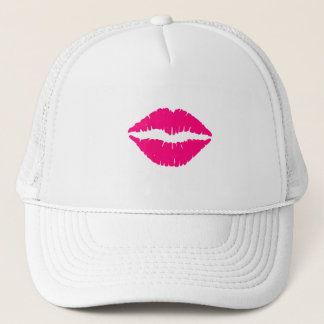 Hot Pink Lipstick Trucker Hat