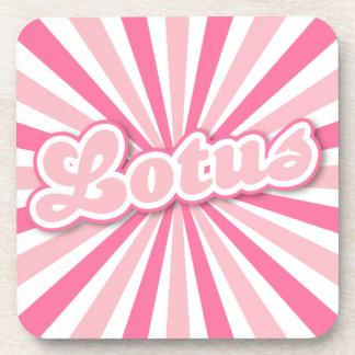 Hot Pink Lotus Coasters